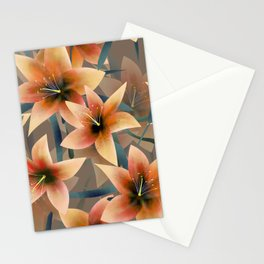Orange lilies. Lily Stationery Cards