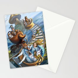 Steampunk Alice in Wonderland Teacups Stationery Cards