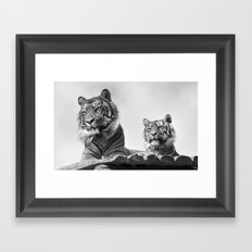 Tigers two Framed Art Print
