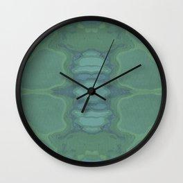 Art Nouveau Green Panel Wall Clock