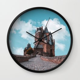 Burg Eltz Castle Germany Up in the Clouds Wall Clock