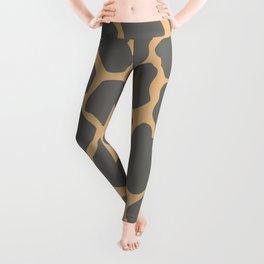 Safari Giraffe Print - Gray & Beige Leggings