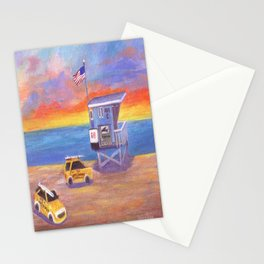 Redondo Beach Lifeguard Tower Stationery Cards