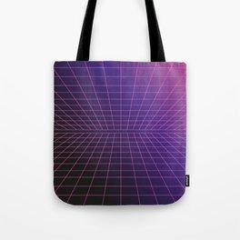 Outrun Grid / 80s Retro Tote Bag