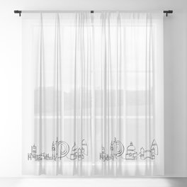 London Skyline Sheer Curtain