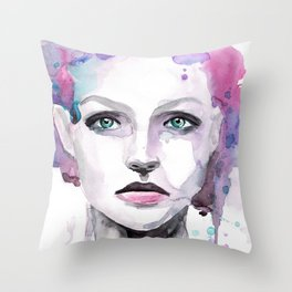 Rosa (pink) three Throw Pillow