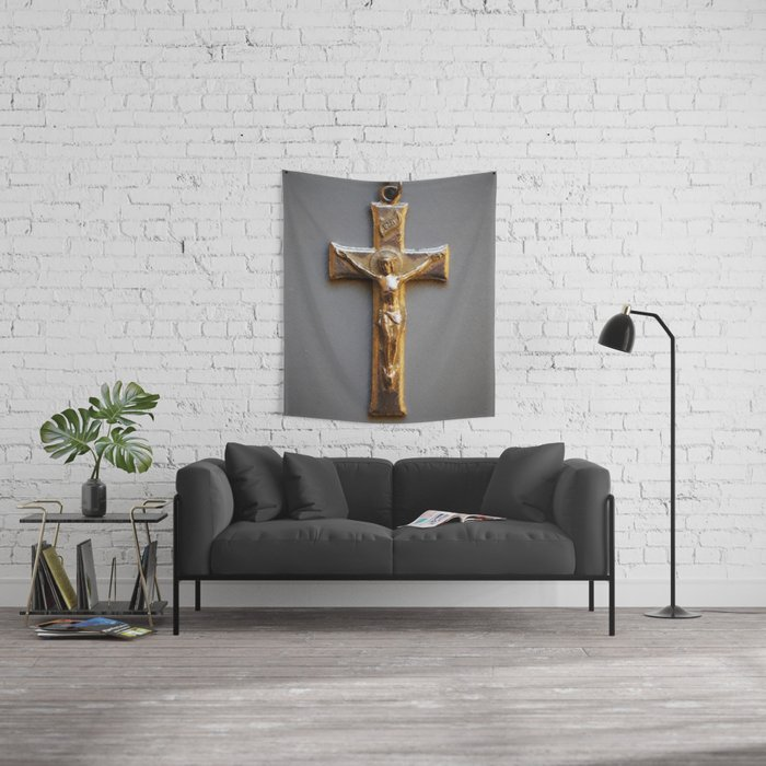 Crucifix Wall Tapestry