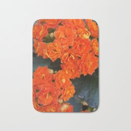 Orange Flowers Bath Mat