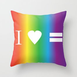 I heart Equality Throw Pillow