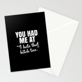 You Had Me At (Black) Stationery Cards