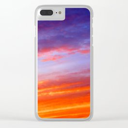 The arrival of night Clear iPhone Case