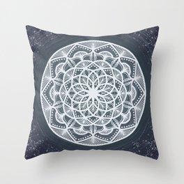 Star Trail Mandala Throw Pillow