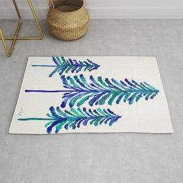 Pine Trees – Navy & Turquoise Palette Rug