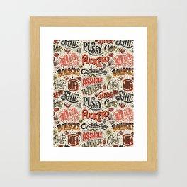 Naughty Words Framed Art Print