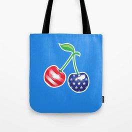 Stars and Stripes Cherries Tote Bag