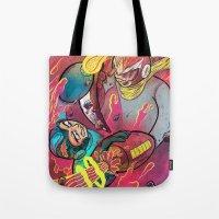 mega man Tote Bags featuring Mega Man Tribute by Logan  Faerber
