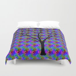 Psychedelic Mystery Tree Duvet Cover