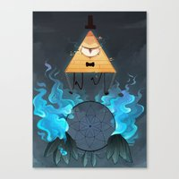bill cipher Canvas Prints featuring Bill Cipher by Maplespyder