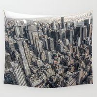 manhattan Wall Tapestries featuring Manhattan by Nicklas Gustafsson