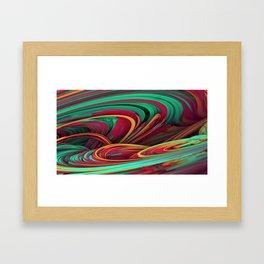 Flowing Strands Framed Art Print