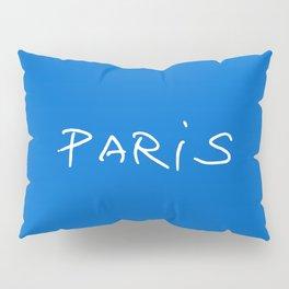 Paris 2 blue Pillow Sham