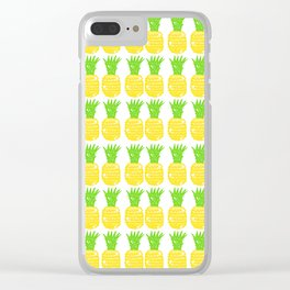 Pretty Pineapple Clear iPhone Case