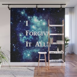Turquoise Teal Galaxy : I Forgive It All Wall Mural
