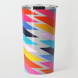 Multicolored triangles Travel Mug