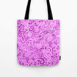 swirl violet Tote Bag