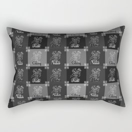 A knight's code Rectangular Pillow