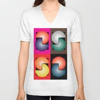 cinema V-neck T-shirts featuring Cinema by Sants Armand
