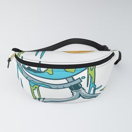 Melted Earth with sun Fanny Pack