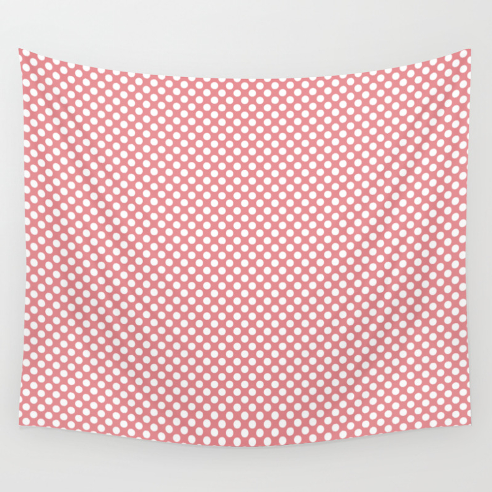 Strawberry Ice And White Polka Dots Hanging by Saravalor TPS6703203