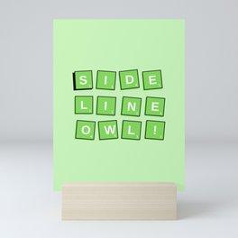 Sidelineowl's 1st edition theme emerald Mini Art Print