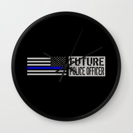 Police: Future Police Officer Wall Clock