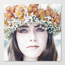 Face flower Canvas Print