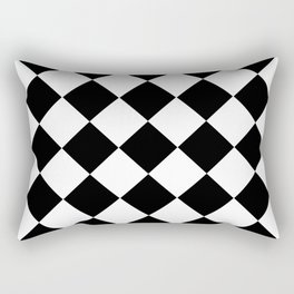 Diamond Black & White Rectangular Pillow