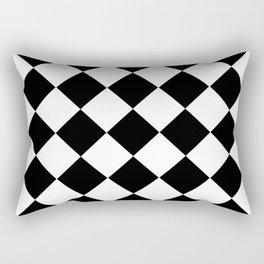 Diamond Black & White Rectangular Pillow