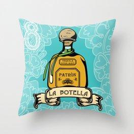 La Botella Throw Pillow