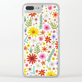teeny floral pattern Clear iPhone Case