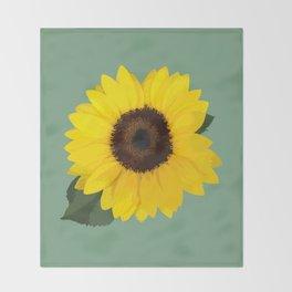 Simple Sunflower Throw Blanket