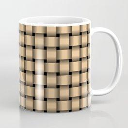 Burlywood Orange Weave Coffee Mug