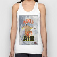 middle earth Tank Tops featuring darrell merrill nerd artist: middle earth air by Nerd Artist DM
