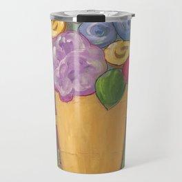 Folk Floral Vase Travel Mug