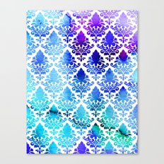 Damask in Cool Purple Canvas Print
