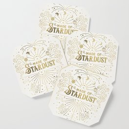 Made of Stardust – Gold Palette Coaster