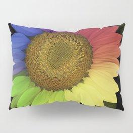 Rainbow Sunflower Scanography Pillow Sham