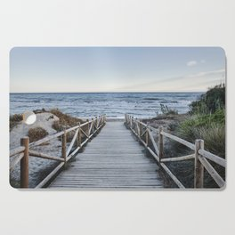 """""""Walking to the beach....."""" At sunset Cutting Board"""
