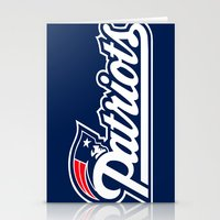 patriots Stationery Cards featuring Patriots Logo  by Happy Positivity