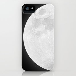 CHALK WHITE MOON iPhone Case